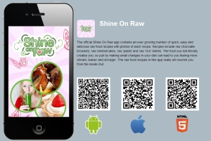 New Interactive Vegan App from Shine On Raw
